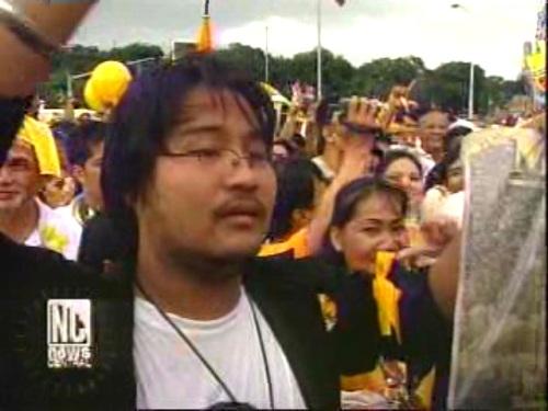 Xiao Chua at Gobernador Ed Panlilio sa Luneta noong funeral march para kay Cory Aquino, 5 Agosto 2009.