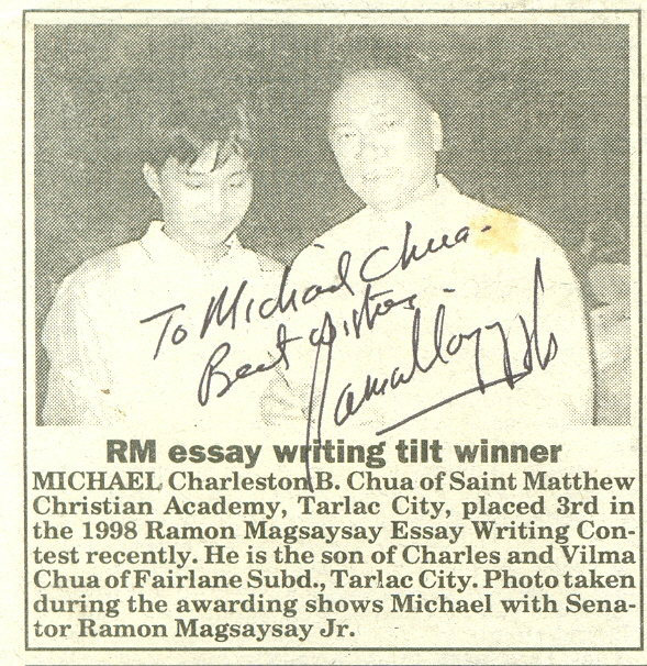 Ramon magsaysay essay writing contest 2003 - gryben-10.pl