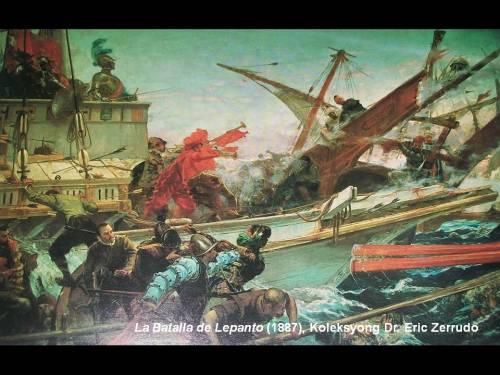 La Batalla de Lepanto (1887), nasa Senado ng Espanya, mula sa koleksyong Dr. Eric Zerrudo