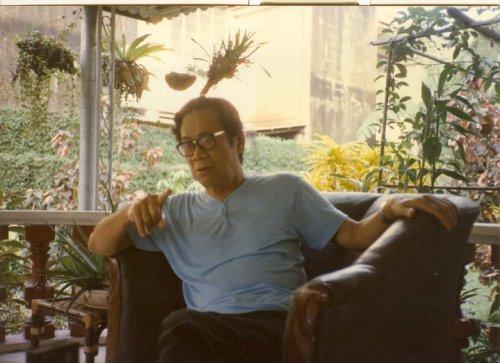 Teodoro A. Agoncillo, 1985.  Kuha ni Dr. Ambeth R. Ocampo