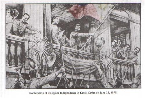 Proklamasyon ng Pagsasarili sa Kawit, Cavite, June 12, 1898.