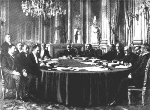Huling araw ng pulong para sa pagbubuo ng Tratado ng Paris, December 10, 1898.