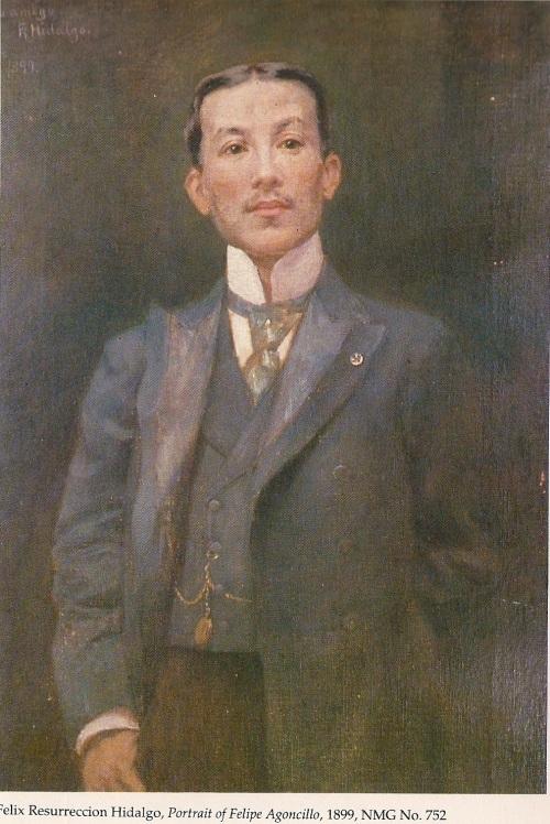 Felipe Agoncillo, ni Felix Resurreccion Hidalgo.  Nasa Pambansang Tipunan ng Sining ng Pambansang Museo ng Pilipinas.