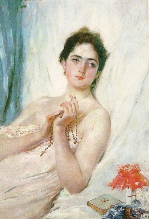 """""""A Portrait of Paz Pardo de Tavera"""" ni Juan Luna.  Ang misteryosong wangis raw ng asawa ni Juan Luna.  Di nga?  Ang sinasabing pinakamalas na painting sa kasaysayan ng bansa."""