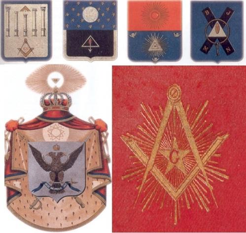 Mga simbolo ng masoneriya. Larawan mula sa Kasaysayan: The Story of