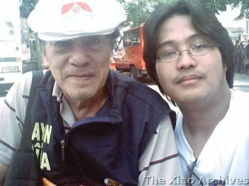 Si Xiao kasama si Romy Vitug.