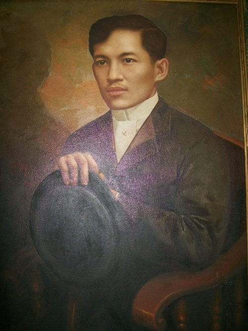 Larawan ni Rizal, obra maestra ni RB Enriquez.  Nasa Department of English and Comparative Lietrature of UP Diliman.  Kuha ni Xiao Chua.