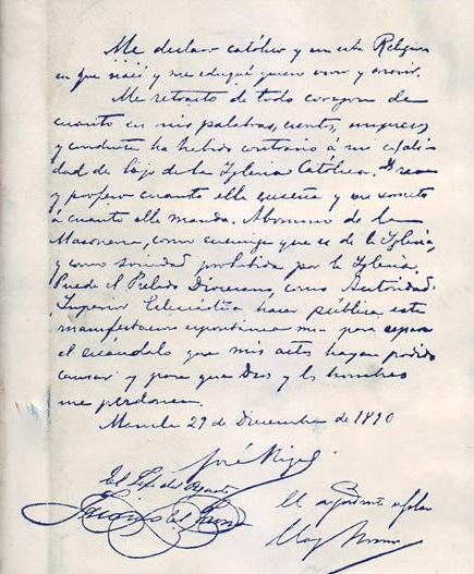 The so-called Rizal retraction