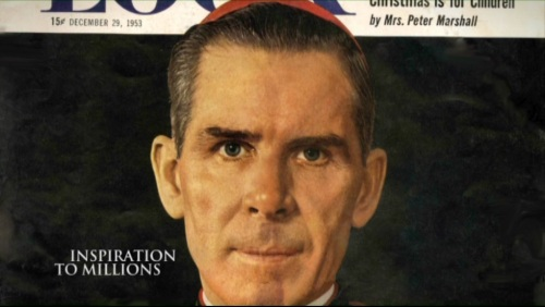Bishop Fulton J. Sheen as  cover person for LOOK magazine, 29 December 1953.