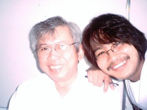 """Jose """"Pete"""" Lacaba a.k.a. Ruben Cuevas kasama si Xiao Chua"""