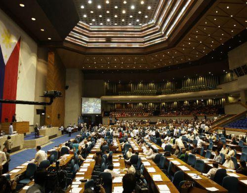 Ang Camara de Representantes (Mababang Kapulungan ng Kongreso ng Pilipinas), habang pinagbobotohan ang RH Bill, December 17, 2012.