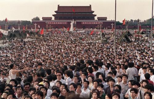 Ang Tagsibol ng 1989 sa Tiananmen Square sa Beijing.