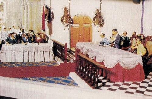 Diorama sa Ayala Museum na nagpapakita ng Kongreso ng Malolos.