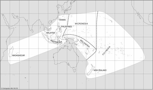 Dunia Melayu:  Ang Lawak ng Mundong Austronesyano mula Madagascar hanggang Easter Island.