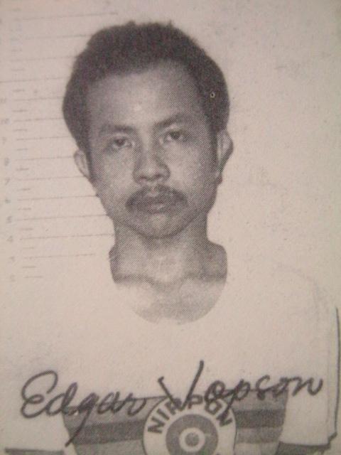 Si Edjop matapos mahuli noong June 17, 1979.  Mula sa U.G.