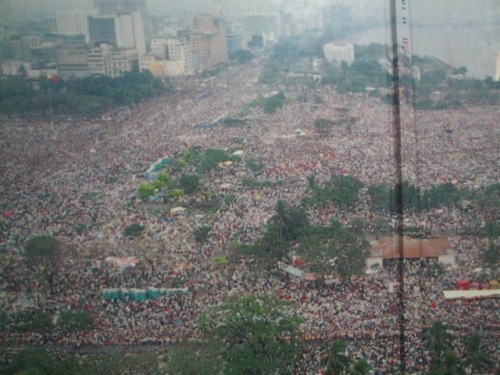 """The Largest Gathering in Human History.  Mula sa  John Paul II We Love You:  Papal Visit 1995 Manila."