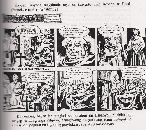 Komiks mula sa History of the Burgis.  Hinalaw ng papel ni Dr. Nilo S. Ocampo.
