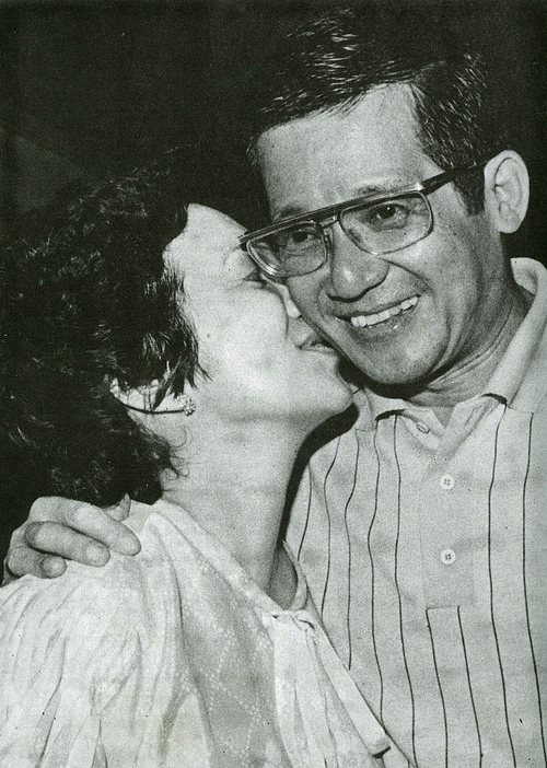 Cory and Ninoy during their 25th Wedding Anniversary.