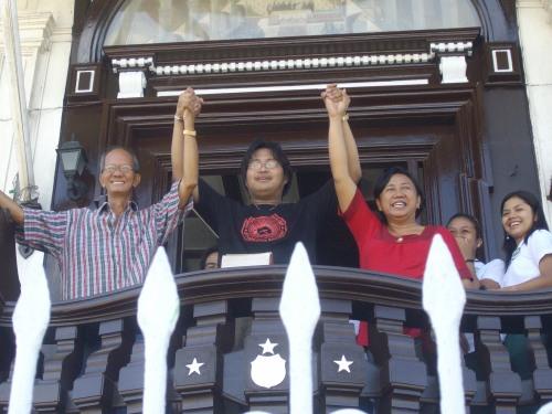 Si Xiao kasama si Kuya Vener Vales at Ate Gina Ayran.