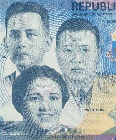 Si José Abad Santos kasama sina Josefa Llanes Escoda at Vicente Lim sa ating New Generation Bills na isanlibong piso.