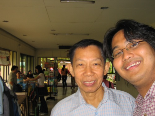 Xiao Chua at si Prop. Felipe de Leon, Jr. Unibersidad ng Pilipinas Diliman, March 10, 2006.