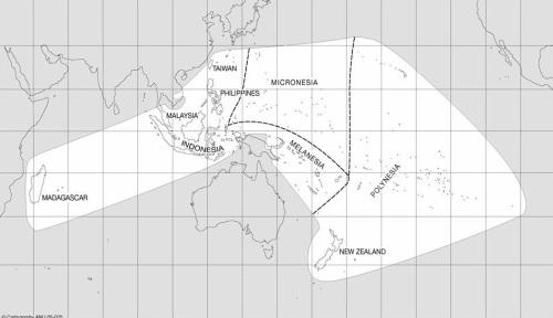 Ang Mundong Austronesyano.  Mula kay Peter Bellwood.