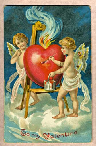 Antique Valentine's Card.  Mula sa Wikipedia.