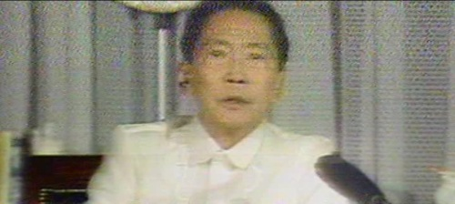 Si Marcos sa David Brinkley show, November 3, 1986.  Mula sa EDSA 25.