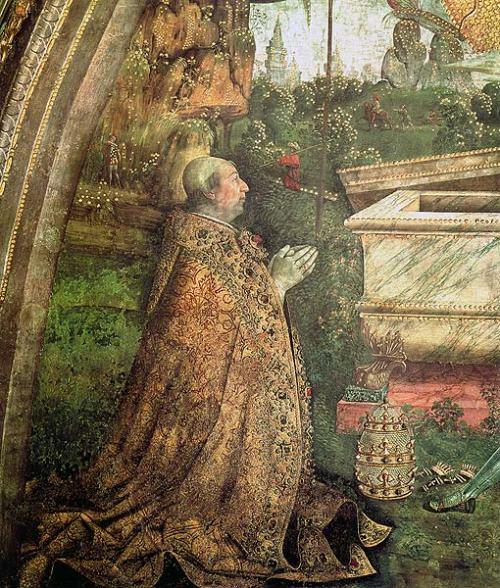 Si Papa Alejandro Borgia gawa ni Pinturicchio.  Mula sa Wikipedia.