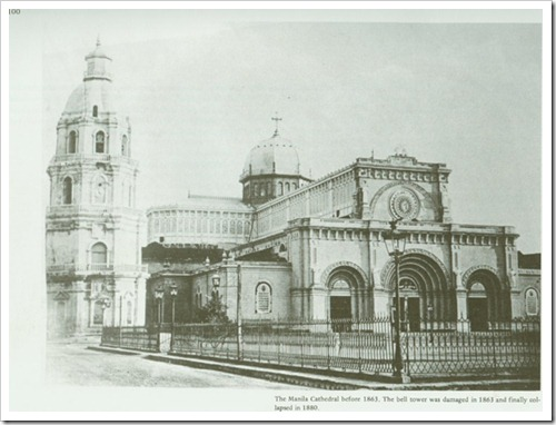 Katedral ng Maynila kung saan naging kura paroko si Burgos,
