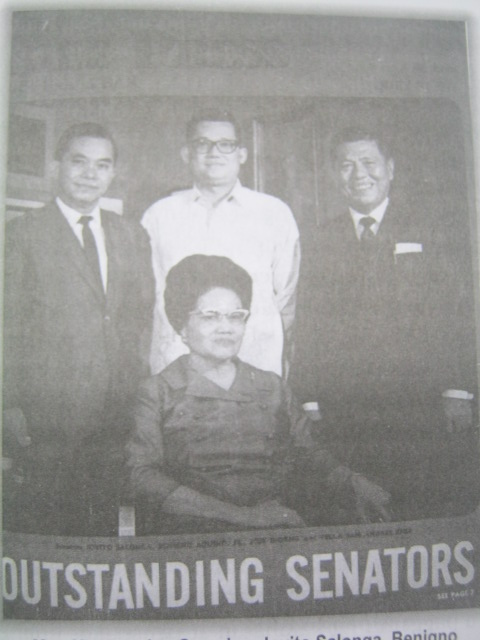 Ourstanding Senator.  Mula sa biyograpiya ni Diokno na isinulat ni Bernardo Noceda Sepeda.