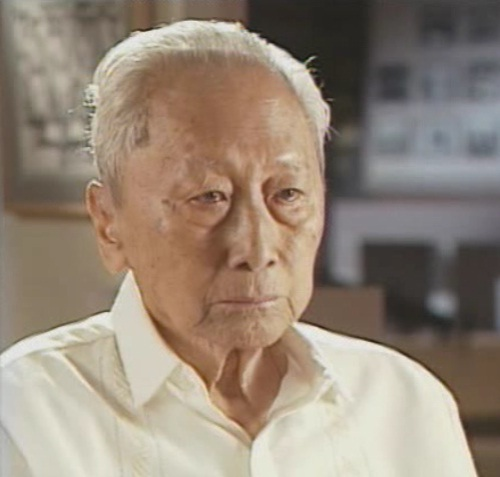 José Abad Santos, Jr. o Pepito sa panayam ng Department of Defense para sa Legacy of Heroes habang inaalala ang pagkamatay ng kanyang ama.