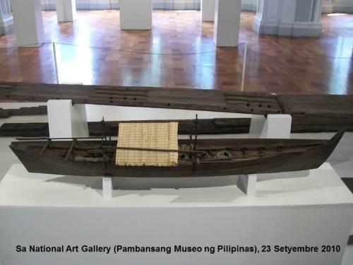 Scale model ng balanghay ng Butuan sa Pambansang Sinupan ng Sining.  Kuha ni Xiao Chua.