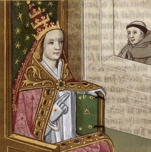 Papesse Jeanne (Popesa Joan).  Mula sa Wikipedia.
