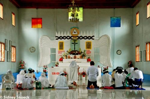 Ang loob ng Simbahan ng Suprema de la Iglesia del Ciudad Mystica de Dios.  Kuha ni Sidney Snoeck.
