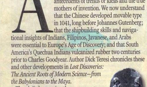 Artikulo mula sa Business Week na nagbabalita ukol  sa aklat na nagbabanggit kung papaanong ang sinaunang kasanayan ng mga Pilipino sa paglalayag ay nakapag-ambag sa Age of Discovery ng Europa.  Mula kay Dr. Jaime B. Veneracion.