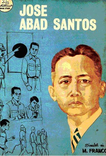 Ang pabalat ng Filipino Heroes Comic Series ukol kay Abad Santos ni Manuel Franco at inilathala ng National Book Store, Inc. noong 1974 na nagpapakita ng mga huling sandali ni Abad Santos.  Mula sa Komiklopedia.