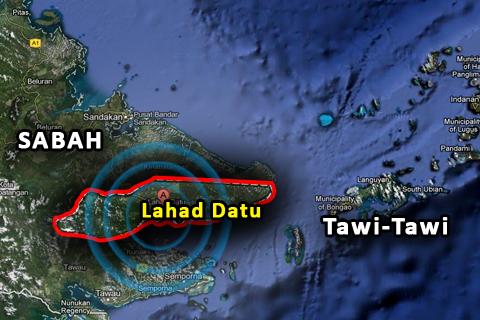 Lahad Datu, Sabah.  Ang tagpo ng karahasan a pagitan ng Royal Forces ng Sulu at ng mga sundalong Malaysian, Mahigit 60 bangkay ang bumagsak sa kaguluhang ito,