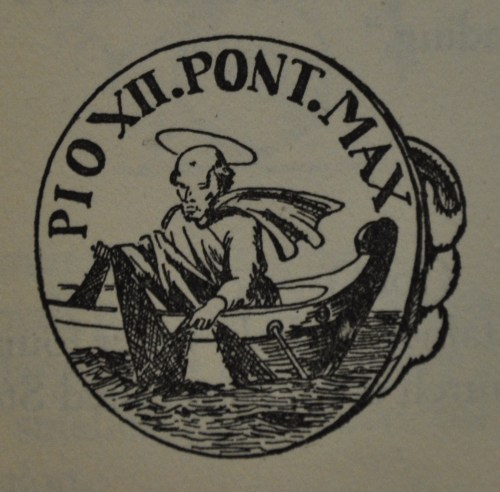 Sagisag sa singsing ni Pope Pius XII.