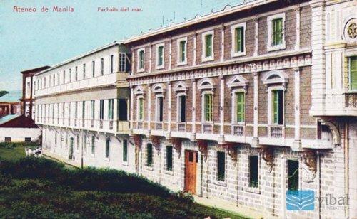 Ateneo Municipal de Manila noong panahon ng mga Espanyol sa intramuros.  Mula sa Vibal Foundation.