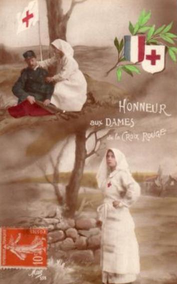 Lumang postcard na nagtatanghal sa Red Cross.