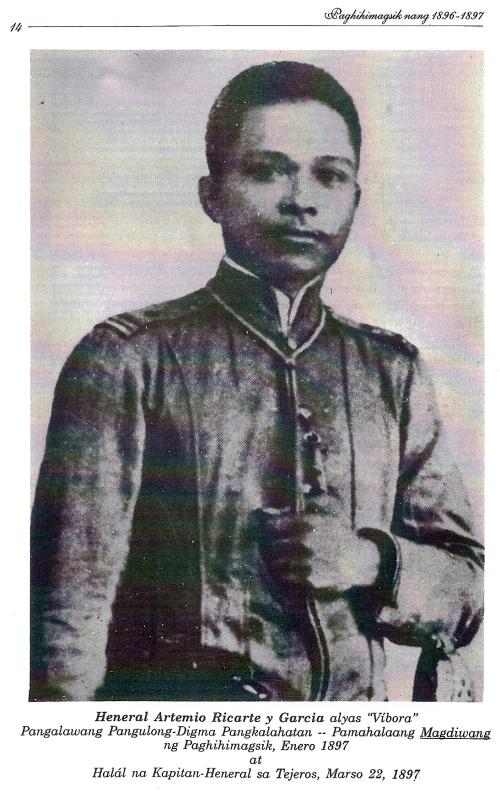 Heneral Artemio Ricarte.  Mula kay Isagani Medina.
