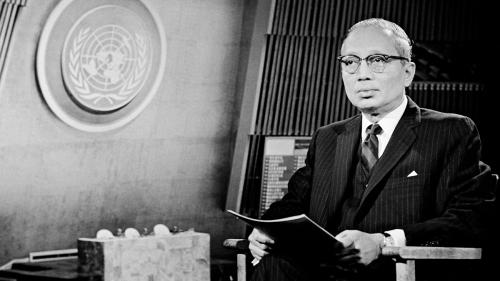 UN Secretary General U Thant.