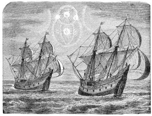 Dalawa sa limang barko ni Magellan.
