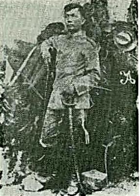 Federico Isabel Reyes, nanguna sa Cry of Candon.  Mula kay Orlino Ochosa.