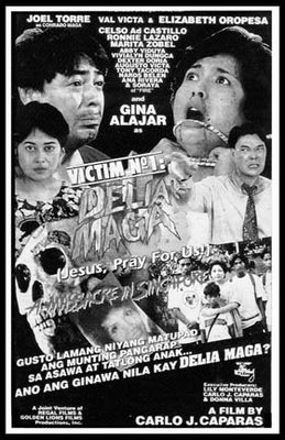 Poster ng Victim No. 1 Delia Maga (Jesus, Pray for Us) ni Carlo J. Caparas