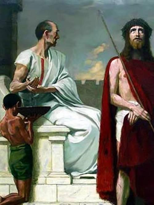 Paghuhugas ng kamay ni Pilato.