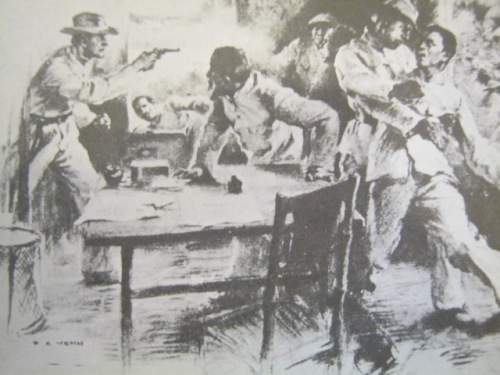 Ang paghuli kay Aguinaldo sa Palanan, Isabela, March 23, 1901.  Mula sa Great Lives Series.