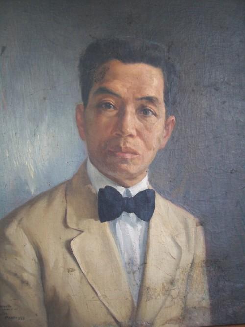 Larawan ni Emilio Aguinaldo na nasa opisina ng Dambanang Aguinaldo na