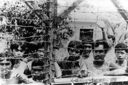 Mga detenido sa kampo militar ng Batas Militar, ABC back to B or proceed to D--Aguinaldo, Bicutan, Crame back to Bonifacio or proceed to Death.